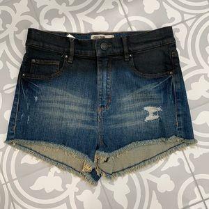 GRG DENIM Fade look High waist shorts